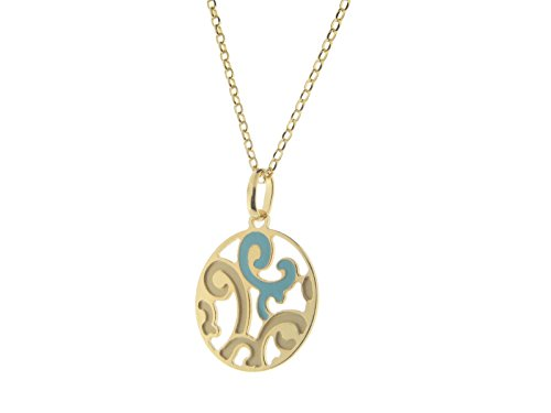 Fronay Co Estruscan Turquoise Swirls Disc Necklace in Sterling - Galleria Macys