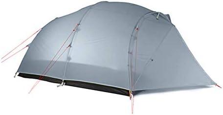 テント HCGS キャンプ テント 屋外キャンプウルトラライト4人3/4シーズン防水大家族 210T 3シーズン 灰色