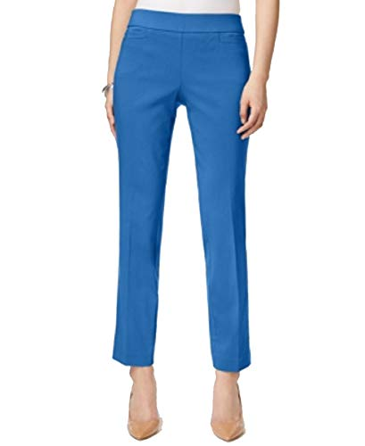 JM Collection Petite Pull-On Pants (Beach Blue, PL)