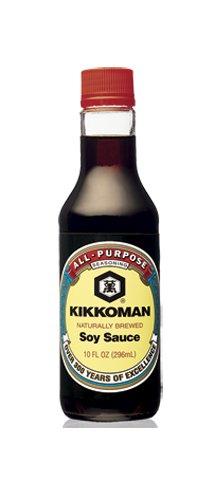 Kikkoman Soy Sauce, 10-Ounce Bottle (Pack of 4)