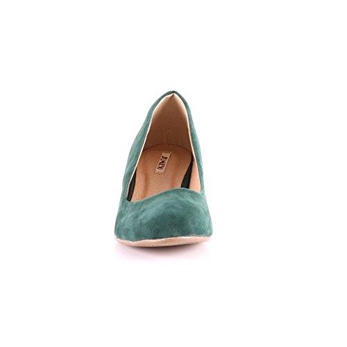 Talon À Vert Womens Haut De Marque De Hauts Tribunal Talons Chaussures Nouvelles Vert Chaussures gwq7Ef