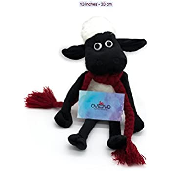 OVEVO Ltd Shaun The Sheep Stuffed Toy (bigger size) + FREE 100% Handmade Scarf (SIZE: 13 inches - 33 cm)