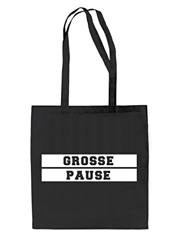 Grosse Pause Jutebeutel Black
