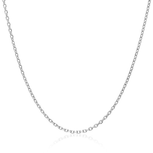 MCS Jewelry 14 Karat Yellow OR White Gold Solid Rolo Cable Chain Necklace 1.8mm (Length: 16