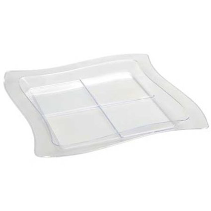 Tiny Temptations 7 inch Tangent Sectional Plate (Set of 120) Color: Clear