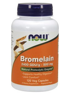 NOW Bromelain 500 mg,120 Veg Capsules