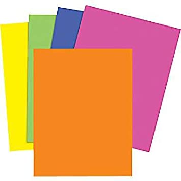 5 Colored Paper Magnet Sheets 8.5\