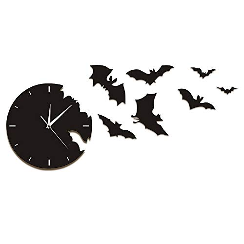llsmting Wall Clocks Scary Bat Symbols Bat Clock