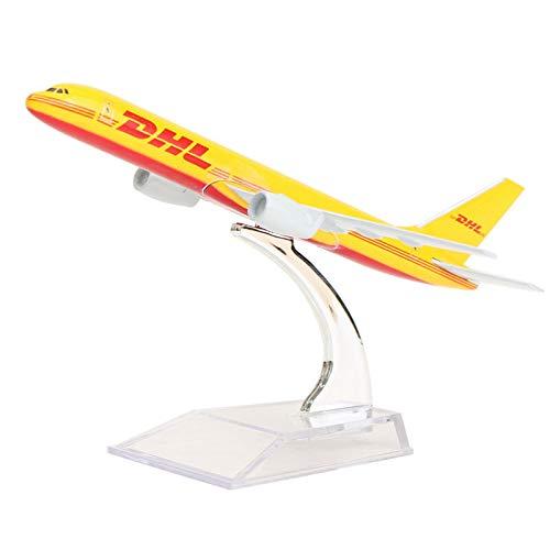 (FidgetGear 16CM Metal Plane Model Aircraft Diecast Airplane Aeroplane 1:400 Scale Desk Toy B757 DHL Kargo)