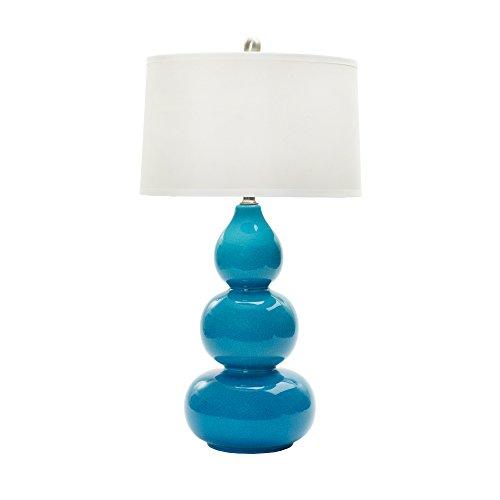 Fangio Lighting W Mr8908turq Cr 28 Ceramic Table Lamp Turquoise