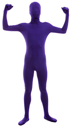 VSVO Second Skin Zentai Full Body Costume (Medium, Purple) (Purple Morphsuit)