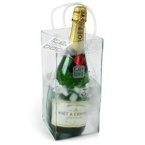 ICE BAG Collapsible Wine Cooler Bag (Clear)