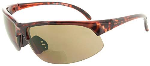 3c4e889695c Fiore 1 Pack Bifocal Sport Wrap Reading Sunglasses Readers for Men and  Women  2.00