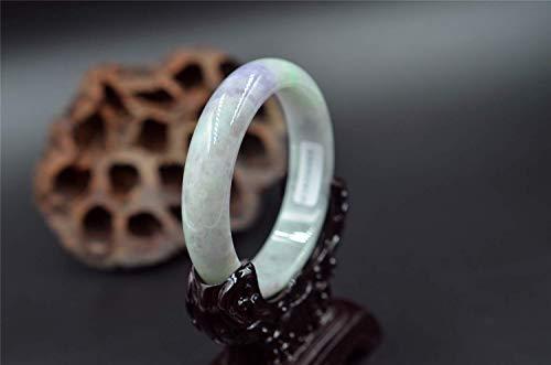 Natural Lavender Purple Jade bangle gemstone bracelet certificated 4924 57mm