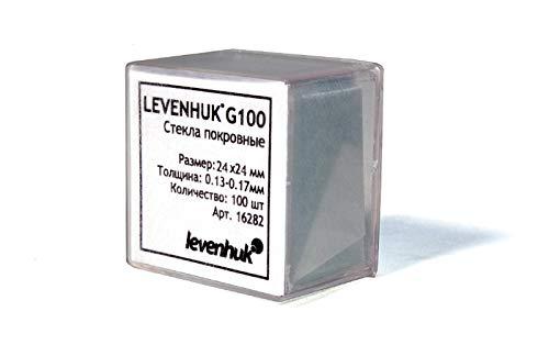 Levenhuk G100 Microscope Cover Slips to Make Your Own Specimen (100 pcs)