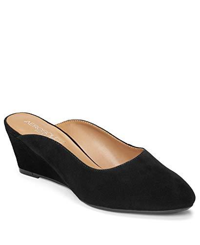 - Aerosoles Women's ENCIRCLE Clog Black Suede 7.5 M US