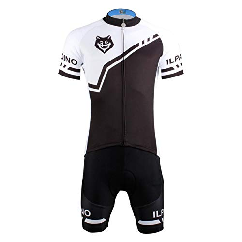 Detectoy Fashion Wolf Print Short Sleeve Cycling Jersey Bib Pants Kits Road Bike Men Clothes Uniforms Shirt Brace Straps Tights Set by Detectoy