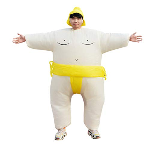 Special Costume for Performance of Funny Sumo Inflatable Suit Wrestler Wrestling Suits Blow Up Suit for Adult Yellow]()