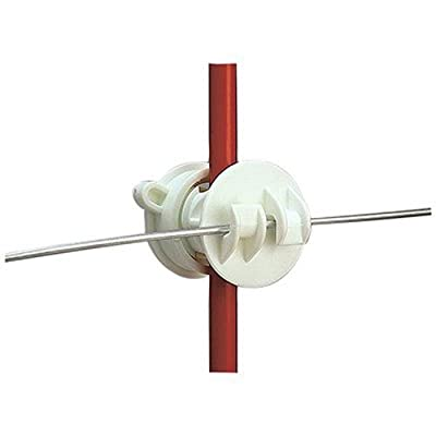 Gallagher G655144 25-Pack Screw-On Rod Electric Fence Insulator, White