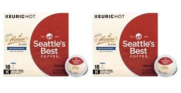 Seattle's Best Coffee House Blend Medium Roast Single Cup Coffee for Keurig Brewers, Box of 18 (18 Total K-Cup Pods) (Pack of 2)