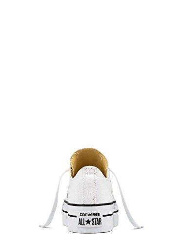 Converse a/S Ox Platform Canvas, Zapatillas Altas para Mujer Blanco (White)