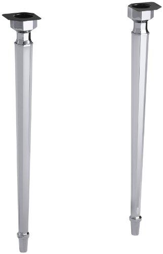 KOHLER K-6839-CP Kathryn Octagonal Metal Legs, Polished Chrome