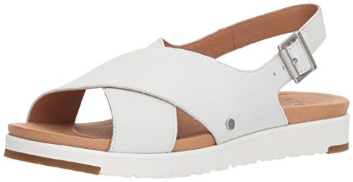 Ugg Womens Kamile Womens White Platform 100% Leather Weiß (white)