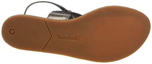 Sandalen Gunmetal Damen Schwarz Timberland Metallic P71qH75