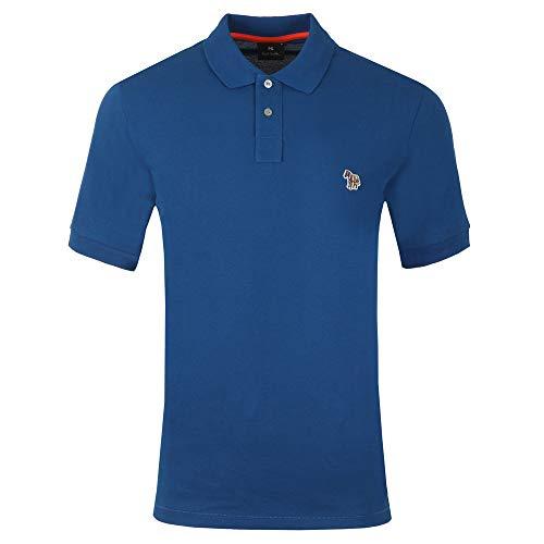 Paul Smith Zebra Badge Logo Polo Shirt in Indigo Blue Small