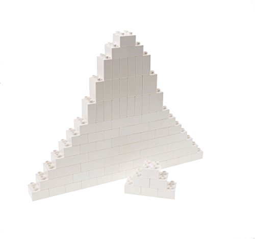 Strictly Briks Classic Big Briks Building Brick Set 100% Compatible with All Major Brands | 3 Large Block Sizes for Ages 3+ | Premium White Building Bricks | 84 Pieces
