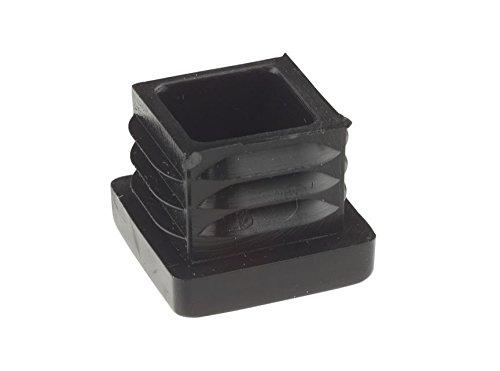 45 x 45 mm Gerippter schwarz Kunststoff Einsatz Plugs Endkappen Made in Germany.