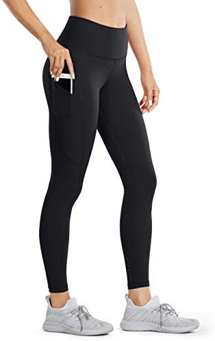 CRZ YOGA Women's High Waisted Yoga Pants with Pockets Naked Feeling Workout Leggings - 25 Inches
