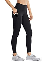 Women's High Waisted Yoga Pants with Pockets Naked Feeling Workout Leggings - 25 Inches