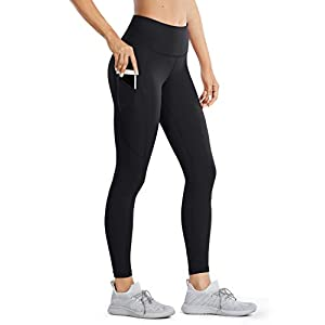 CRZ YOGA Women's Naked Feeling High Waisted Yoga Pants with Pockets Workout Leggings Camo – 25 Inches