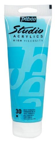 PEBEO Studio Acrylics High Viscosity, Fine Acrylic, 250 ml - Turquoise Blue