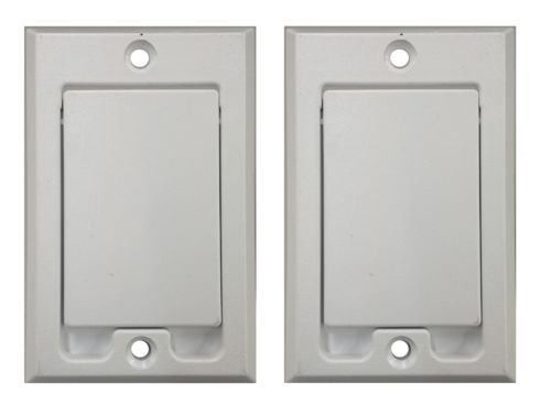 PartsBlast (2) Central Vacuum Square Door Inlet Wall Plate White for Nutone Beam - White Inlet