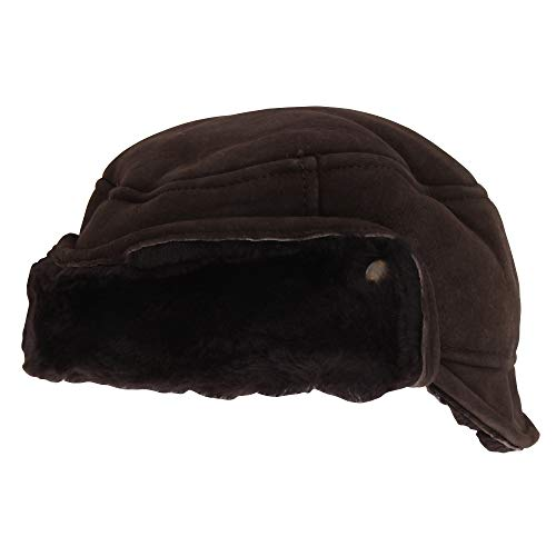 (Eastern Counties Leather Mens Caxton Sheepskin Aviator Trapper Hat (XL) (Brown))