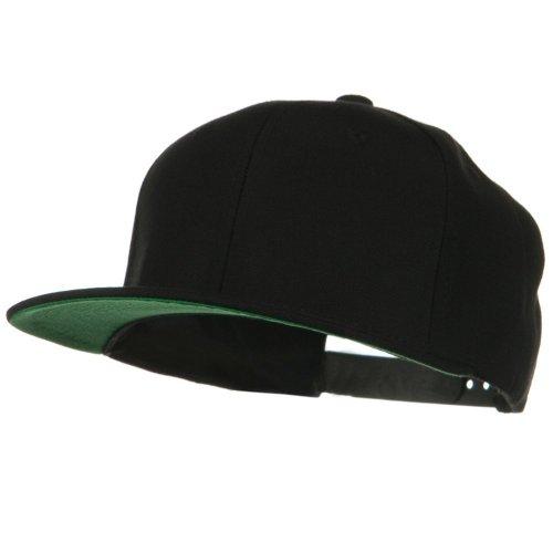 Wool Blend Prostyle Snapback Cap - Black W41S71B - Snapback Wool