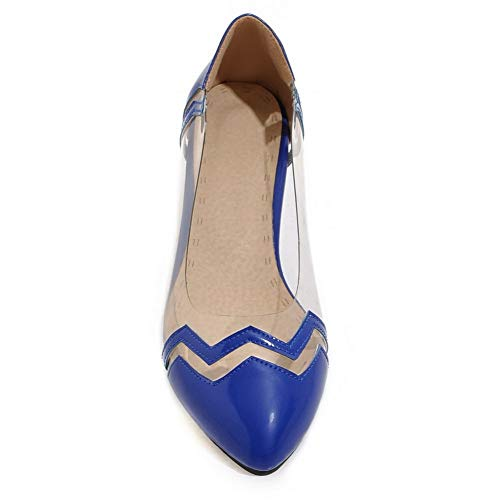 Balamasa Apl10466 Blue Donna Sandali Con Zeppa rrwZqz