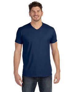 Hanes Men's Cotton Nano V-Neck T-Shirt,Vintage Navy,2XL