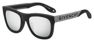 Sunglasses Givenchy Gv 7016 |N|S 0BSC Black Silver | T4 black mirror lens