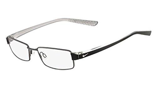 Nike Eyeglasses 8065 013 Matte Dk Gunmetal/Crystal Demo 51 17 145 by NIKE