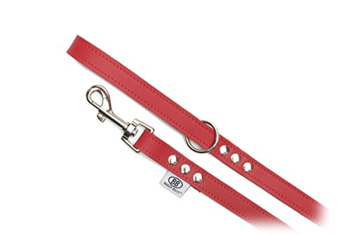 Buddy Belts Classic Collection All Leather Pet Leash, 3/4-Inch by 4-Feet, (Buddy Belt Leather)