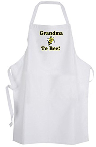 Grandma To Bee! Adult Size Apron - Cute Funny Humor New Baby Wedding by Aprons365