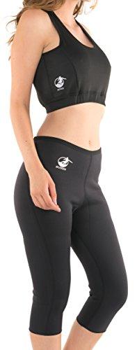 Sunex Tools - Pantalones ajustados reductores y top, aumentan la sudoración, talla S - XXXL / 32 - 42 negro nero - nero Talla:XXL ( 44)