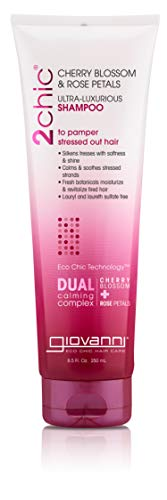 Giovanni 2chic Ultra-Luxurious Shampoo with Cherry Blossom & Rose Petals, 8.5 Fluid Ounce