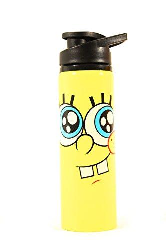 Silver Buffalo SG1389ST Nickelodeon SpongeBob Big Eyes Stainless Steel Water Bottle, 25-Ounces