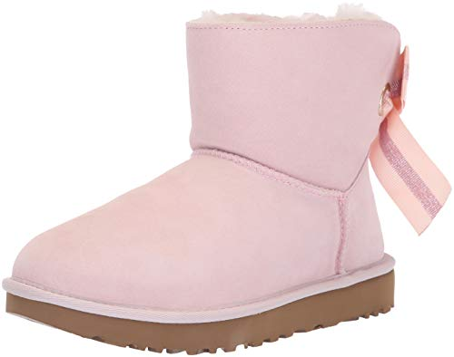 UGG Women's W Customizable Bailey Bow Mini Fashion Boot, Seashell Pink, 10 M US (Pink Bows Uggs)