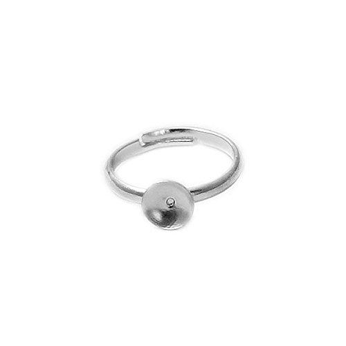 Ring Blank Setting Adjustable Metal Ring Bezel Child Ring Blank 10 PC Per Lot Childs Bezel