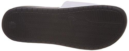 ad3943473257d Nike Men s Benassi JDI Mismatch Slide Sandals Black White 11 ...